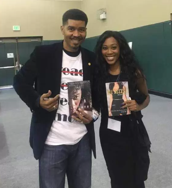 Denisha Hardeman with Omar Tyree
